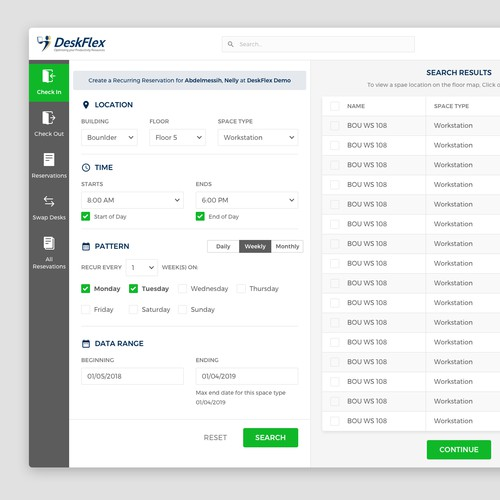 DeskFlex Web App