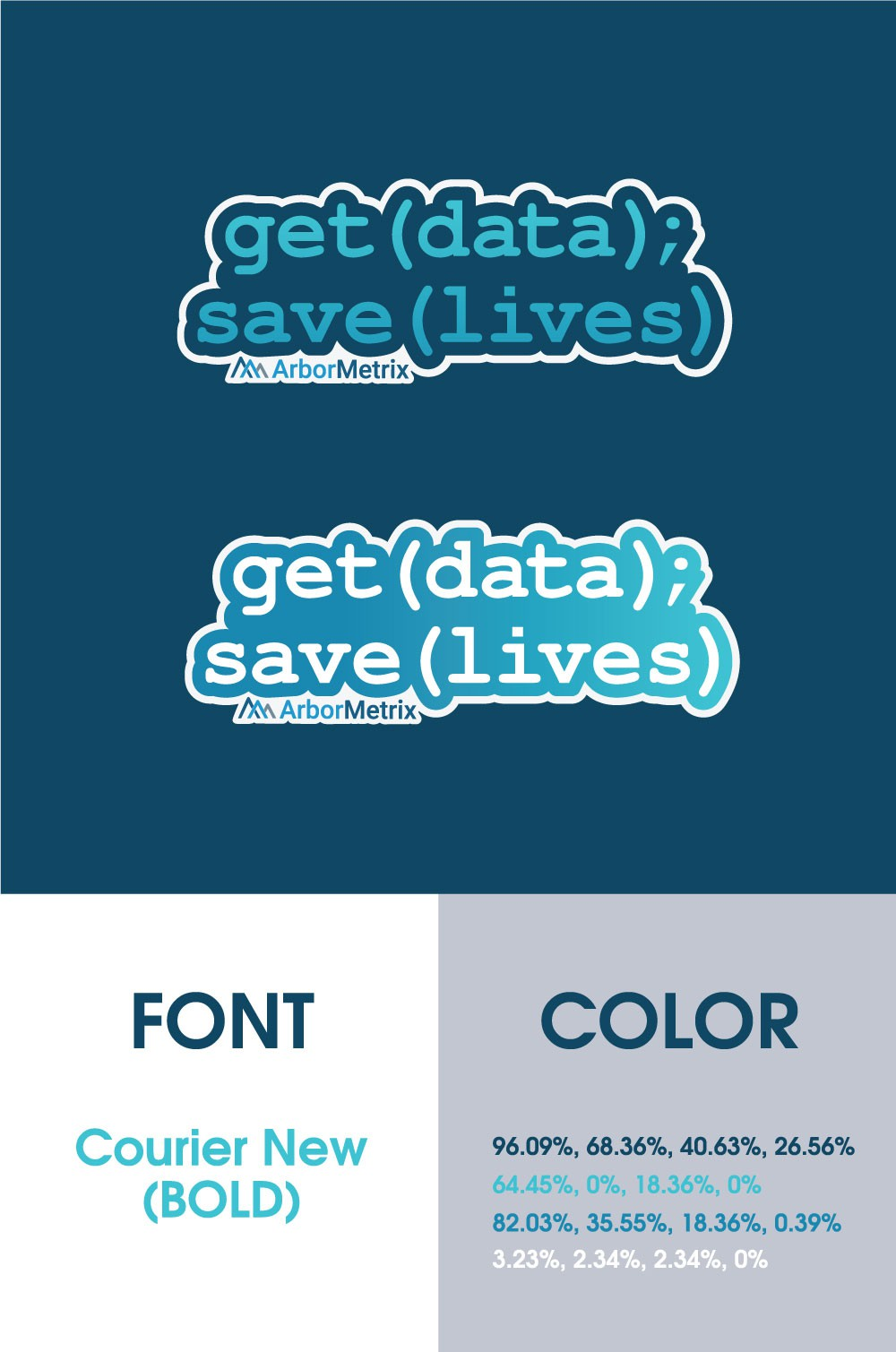 Get Data, Save Lives sticker with Cool Gradient Text for Major Conference