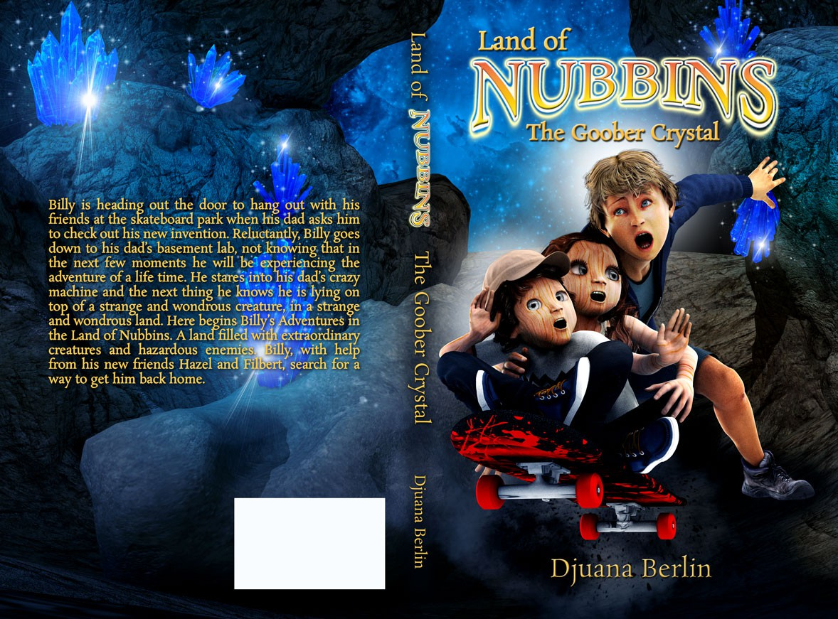 Create a Adventurous cover for my Children's book that takes place in a Land full of Nut People