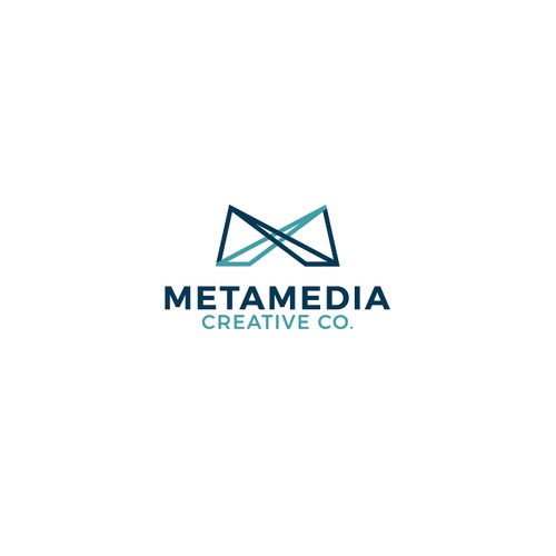 Clean logo concept for METAMEDIA