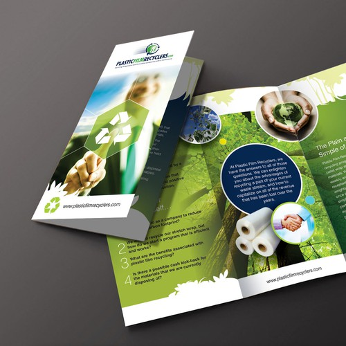 Create a Stylish and Innovative Brochure for a Plastic Recycling Company