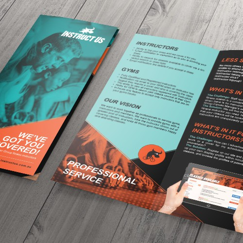 "Eye catching brochure for ""InstructUs"""