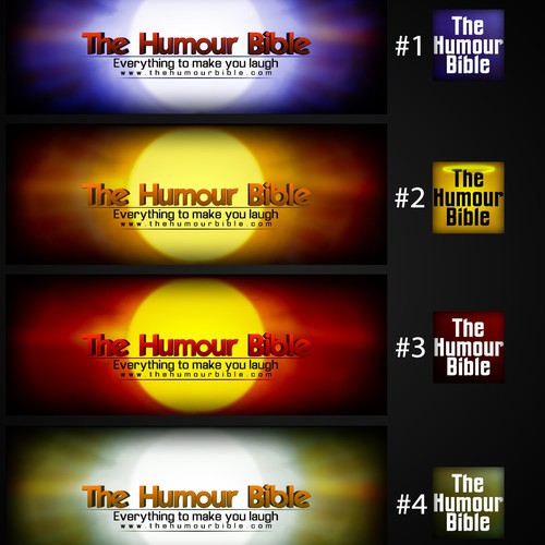 Design a cover and profile picture for the facebook page 'The Humour Bible'