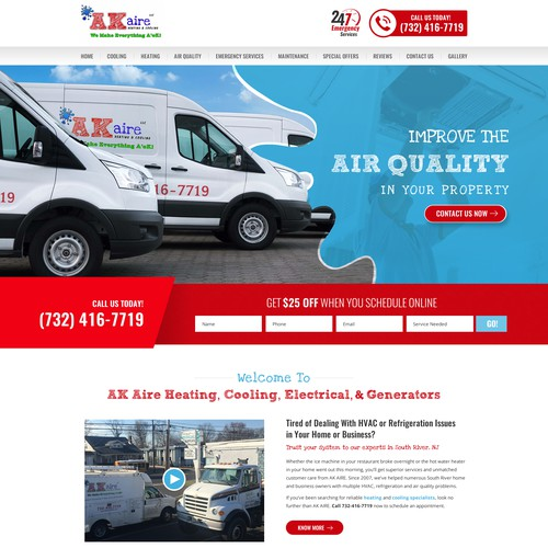 Heating/Cooling/Electrical Company Needs Superstar Website