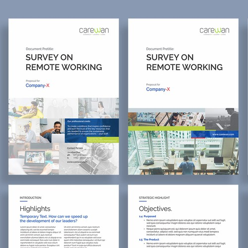 Dynamic Whitepaper for Remote Working Survey