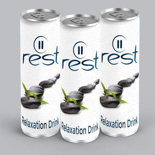 Create can design for the new Rest Relaxation Drink
