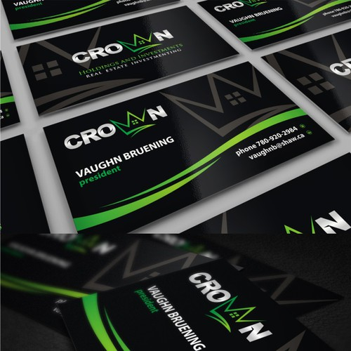 New business card wanted for Crown Holdings and Investments