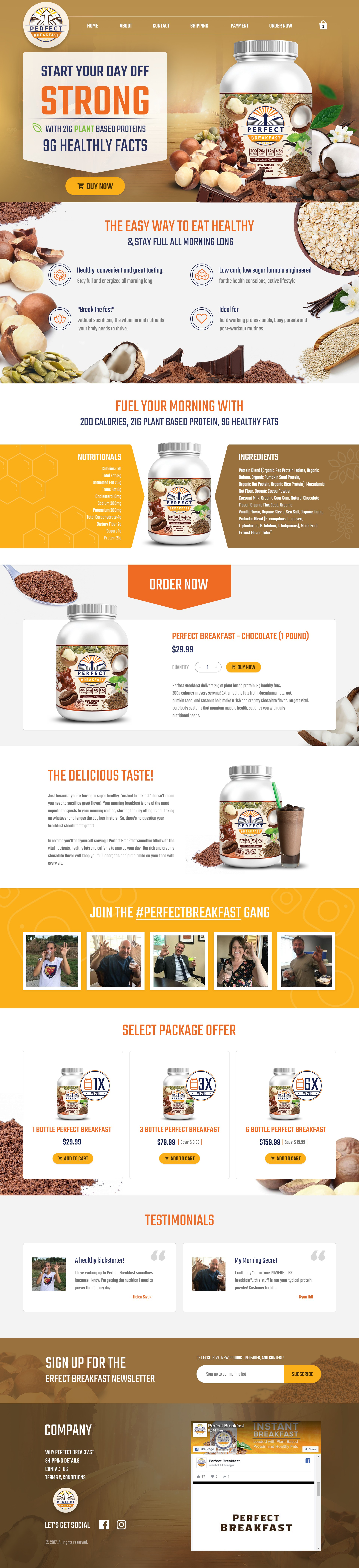 Website redesign around new packaging and logo