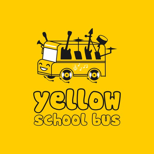 a logo for yellow school bus