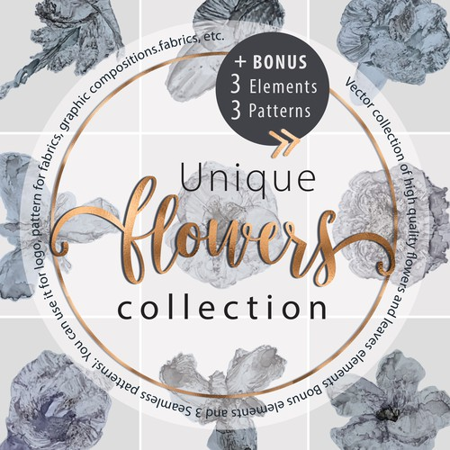 Unique Flowers Collection Bundle