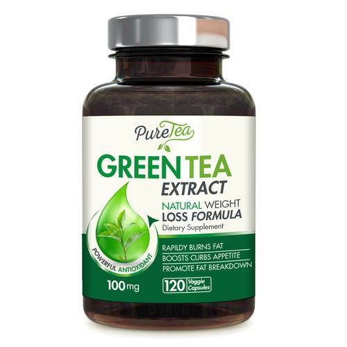 green tea label