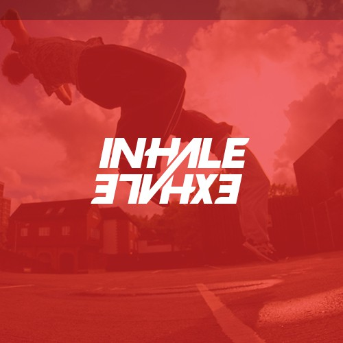 Inhale & Exhale Typography