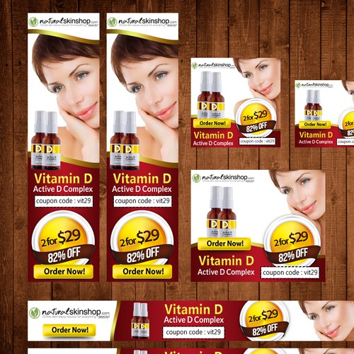 New banner ad wanted for Naturalskinshop