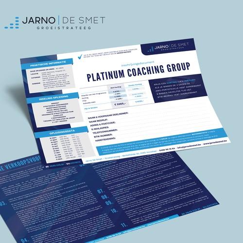 Registration Form Platinum Coaching Group