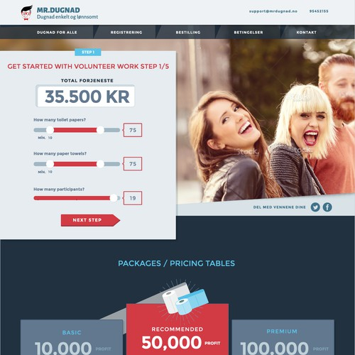 Web design, responsive and dynamic