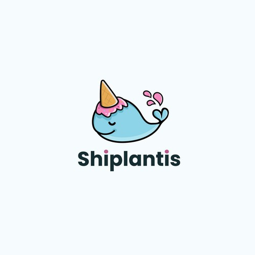 Logo for a company Shiplantis that  provides postage labels you can pay for with Bitcoin.
