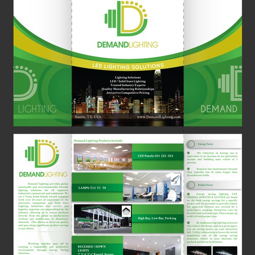 Brochure for Demand Lighting most work done.