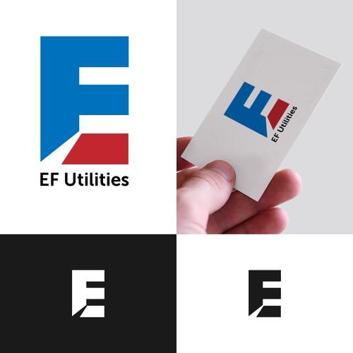 Bold logo design for utility company