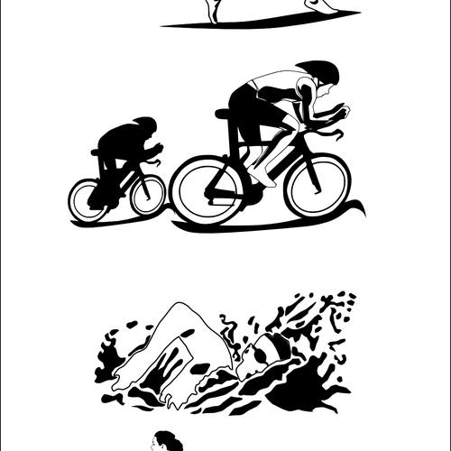Triathlon mural