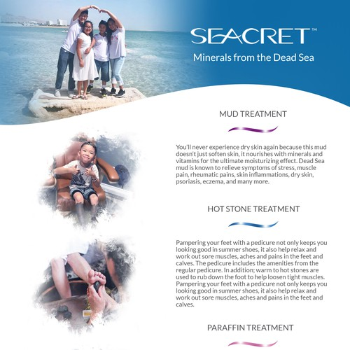 SEACRET FLYERS - DEAD SEA PEDICURE - back
