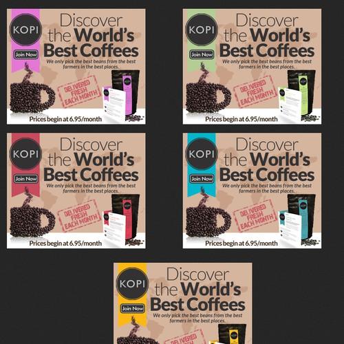 Display Ads for Kopi Coffee Explorer Club