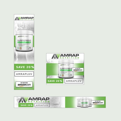 Banner Ad design for AMRAP Nutrition