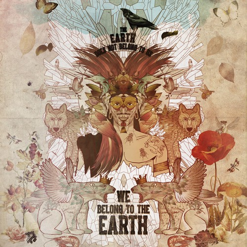 The Earth - illustriertes Zitat – Natur Umwelt Inspiration Poster – Nostalgie Art Print