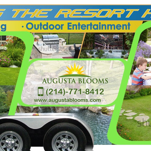 Landscaping Company Trailer Wrap