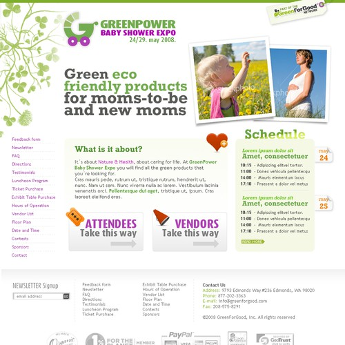 Green Power Baby Shower Expo