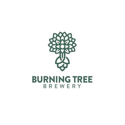 Burning tree brewery logo