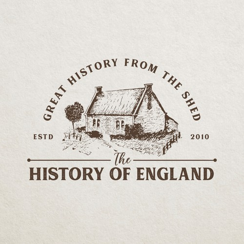 Hand drawn logo for podcast named The History of England
