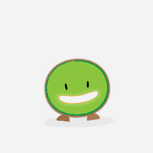Kiwi Fruit Mascot