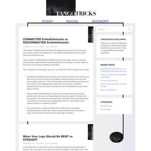 Tango Tricks Homepage