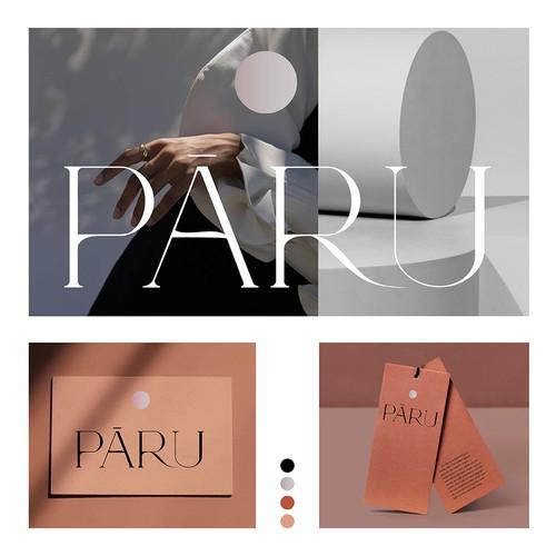 Branding for womenswear brand Paru (Winning design).
