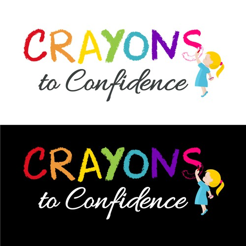 Colored logo design for a blog for parents, teachers, and anyone else working with children (particularly girls).