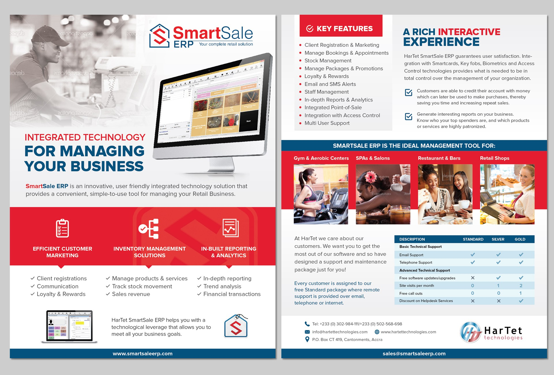 Create an awesome flyer for SmartSale ERP