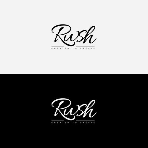 Crea un logo para Rwsh una empresa 100% creativa