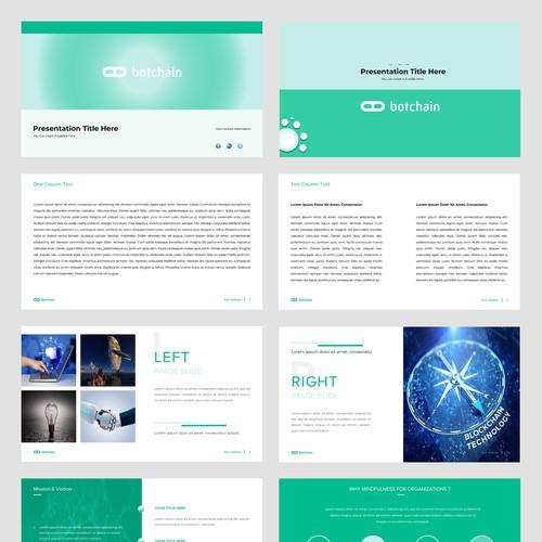 Design for Blockchain for AI Company Presentations