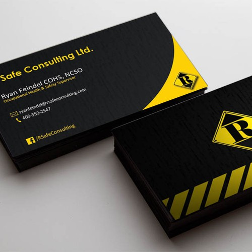 Bold and Beautiful Business Card for 'R Safe Consulting'