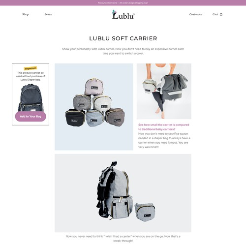 Product Page Ecommerce Webflow