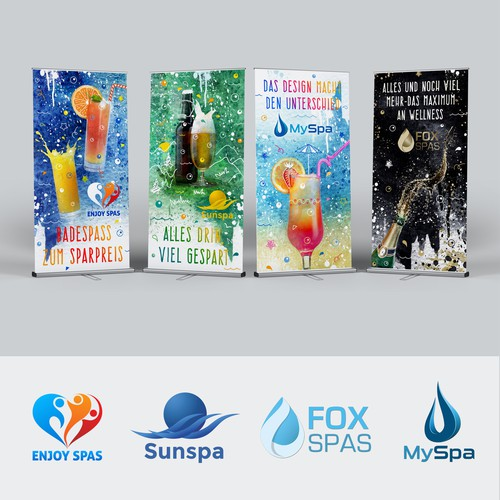 Banners-Rollups design for decorating whirlpool Showrooms (Spa, Jacuzzi Hottub)