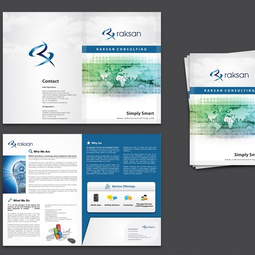 Raksan Consulting needs a new brochure design