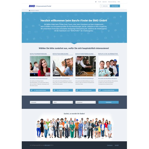 Landing Page Design - Jobs Talent Market