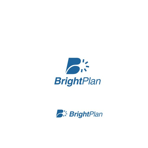 simple logo for bright plan