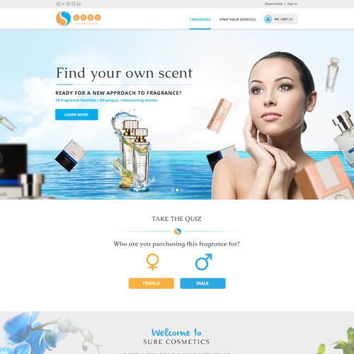 SURE Cosmetics website