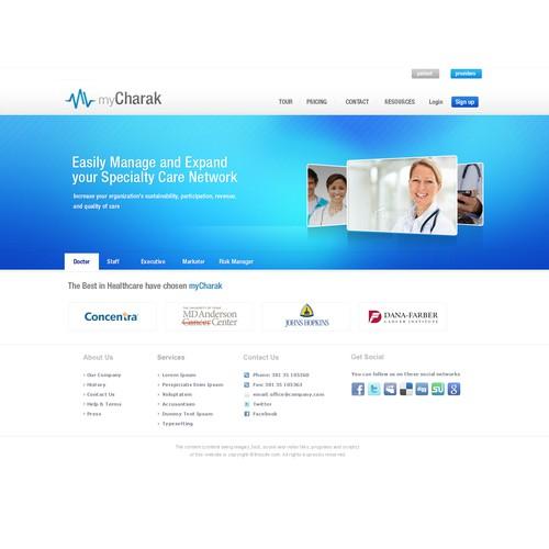 Create the next website design for www.myCharak.com