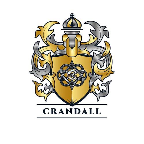 Crandall Family Crest Coat of Arm Logo