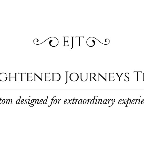 ETJ - enlightened journeys travel -  logo design