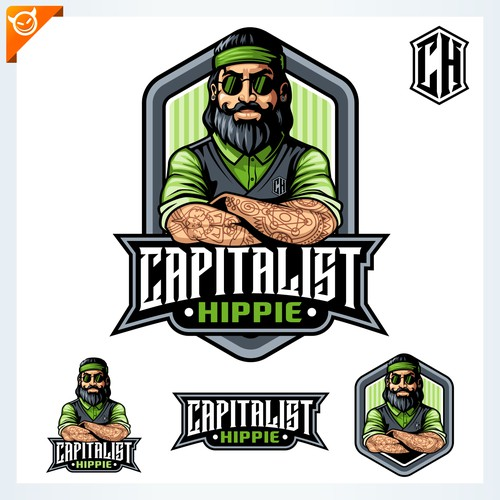 Capitalist Hippie logo design