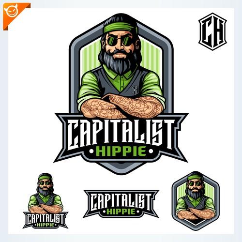 Capitalist Hippie logo design